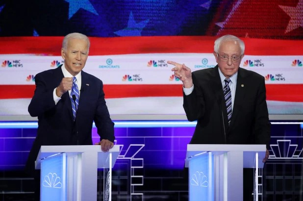 Sen. Bernie Sanders and Joe Biden
